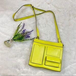 KATE Spade Saturday Neon Yellow Leather Crossbody